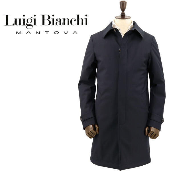 Bianchi グリーンストームシステム Luigi 9202791774315 【クリアランスセール】ルイジビアンキマントヴァ (ダークネイビー)【返品交換不可】special ステンカラーコート priceAM Mantova