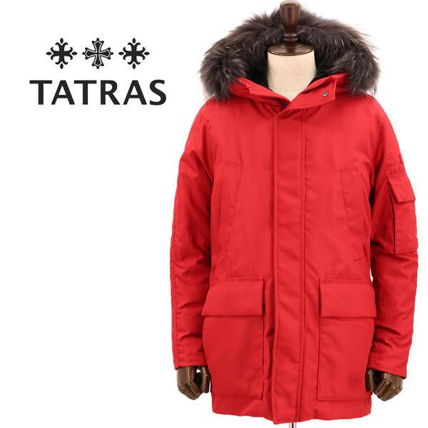 国内正規品 即日発送 TATRAS タトラス メンズ N-3B型 ラクーンファー付き ダウンコート NESTORE MTK20A4191 RED(レッド)