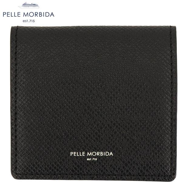 PELLE MORBIDA ペッレモルビダ 型押しレザー ボックス型 コインケース PMO-BA309 BLK(ブラック)