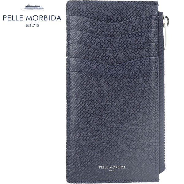 2020年春夏新作 国内正規品 PELLE MORBIDA ペッレモルビダ バルカ カードケース付小銭入れ コインケース BARCA PMO-BA315BI NV/IV (ネイビー×アイボリー)