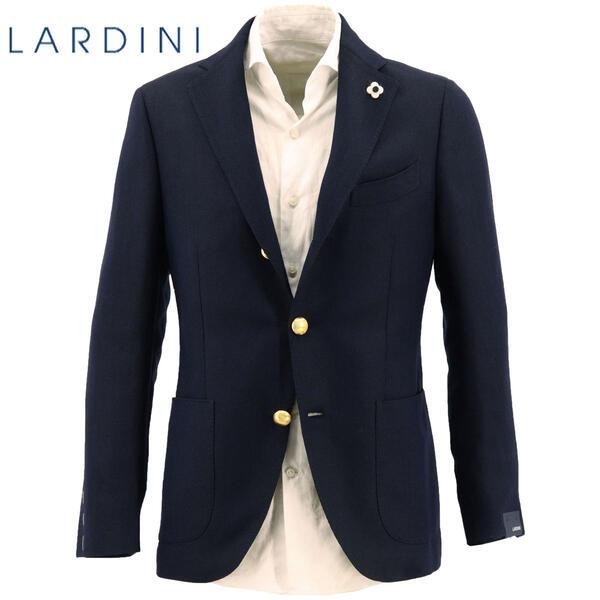 2020年春夏新作 国内正規品 LARDINI ラルディーニ メンズ ウールリネン ホップサック 段返り3B シングルジャケット JR0526AQR/EIRP54596/5(ダークネイビー)