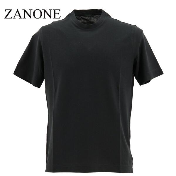 2020年春夏新作 国内正規品 ZANONE ザノーネ メンズ アイスコットン クルーネック 半袖Tシャツ T-SHIRT MC ROUND NECK 811821 Z0380 Z0015(ブラック)