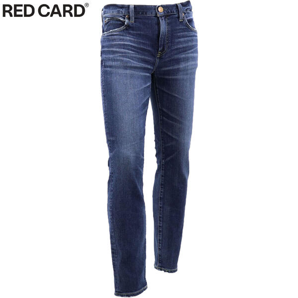2020年春夏新作 国内正規品 RED CARD レッドカード メンズ ライダー ストレッチ ヴィンテージ加工 スリムテーパードデニム Ryder tatsuya 69841-tdm DEEP MID/MID IND(ブルー)