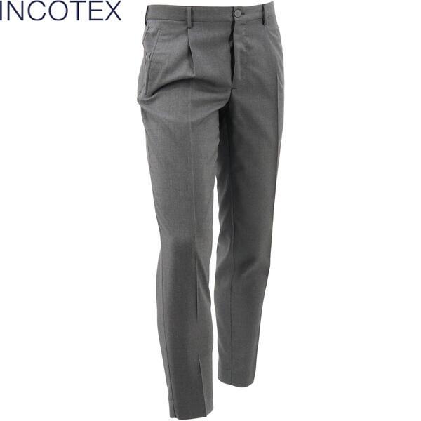 2020年春夏新作 国内正規品 INCOTEX インコテックス メンズ ウノプントゼロ ヴァージンウール テーパードパンツ 1.0 TAPERED FIT ZR541Z 1037W 920(グレー)
