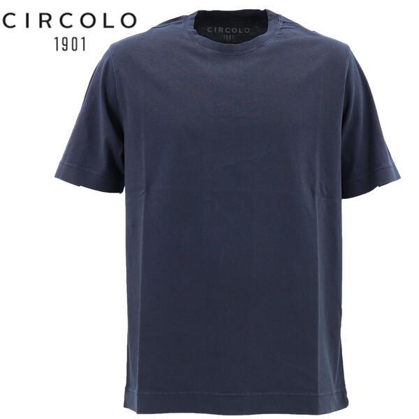 2020年春夏新作 国内正規品 CIRCOLO1901 チルコロ1901 メンズ コットン クルーネック 半袖 Tシャツ 0104-256506 930(ネイビー)