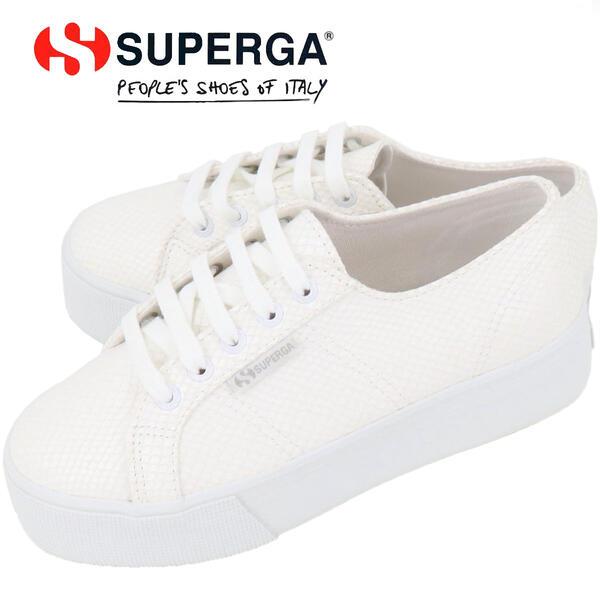 2020年春夏新作 国内正規品 SUPERGA スペルガ レディース FANTASIA 厚底スニーカー S1118JW 2790 SYNLEAVIPPERMATTW WHITE901(ホワイト)