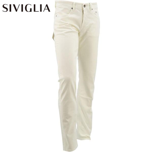 2020年春夏新作 国内正規品 SIVIGLIA シヴィリア/シビリア メンズ ストレッチ テーパード ホワイトデニム 223J/S999/1103(ホワイト)