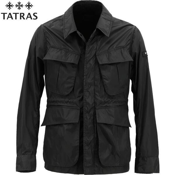 2020年春夏新作 国内正規品 TATRAS タトラス メンズ 超軽量 ナイロン ファティーグジャケット シャツジャケット DIONISO MTA20S4657 BLACK(ブラック)