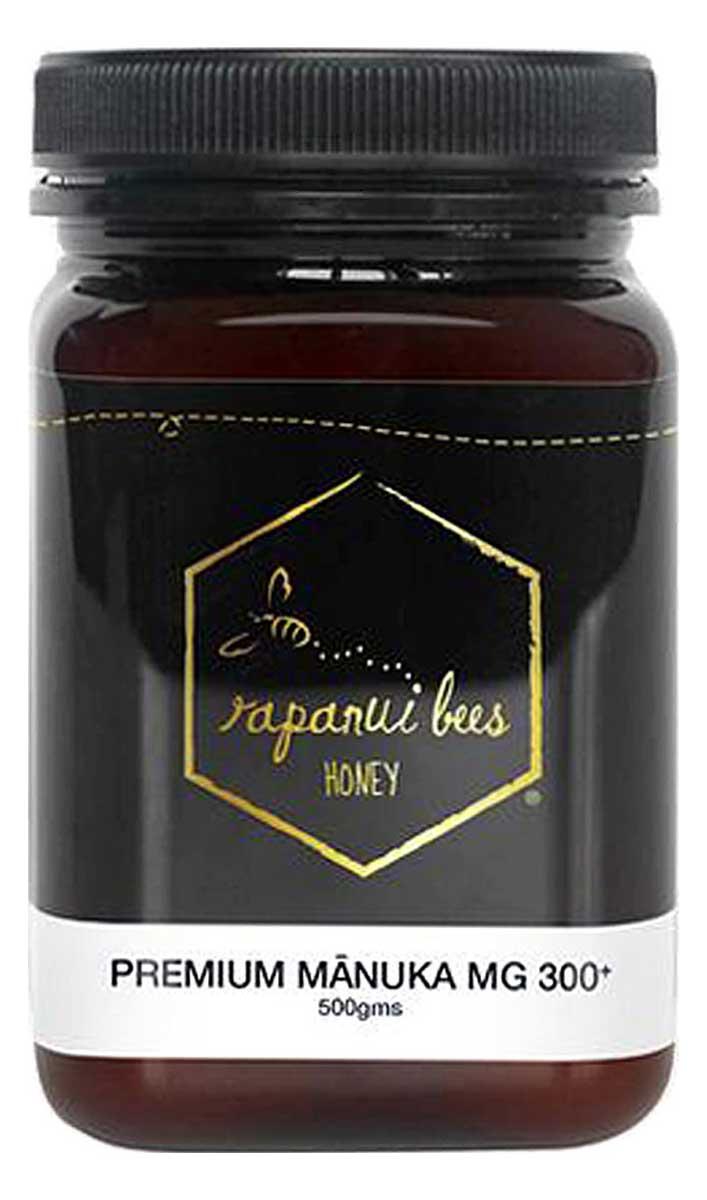 Rapanui Bees ラパヌイビーズ 天然100%純粋 プレミアムマヌカハニー MG300+ 500g マヌカハニーのハニーマルシェ ラパヌイビーズ日本正規総代理店 【返品交換不可】ニュージーランドはちみつ 生はちみつ