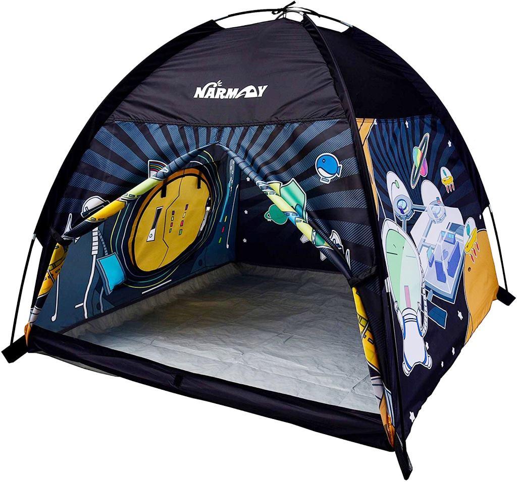 NARMAYキッズテント(スペースワールド)宇宙 屋内/屋外 プレイテント約122cm×122cm×101cm ドーム ボールプール(Space World)