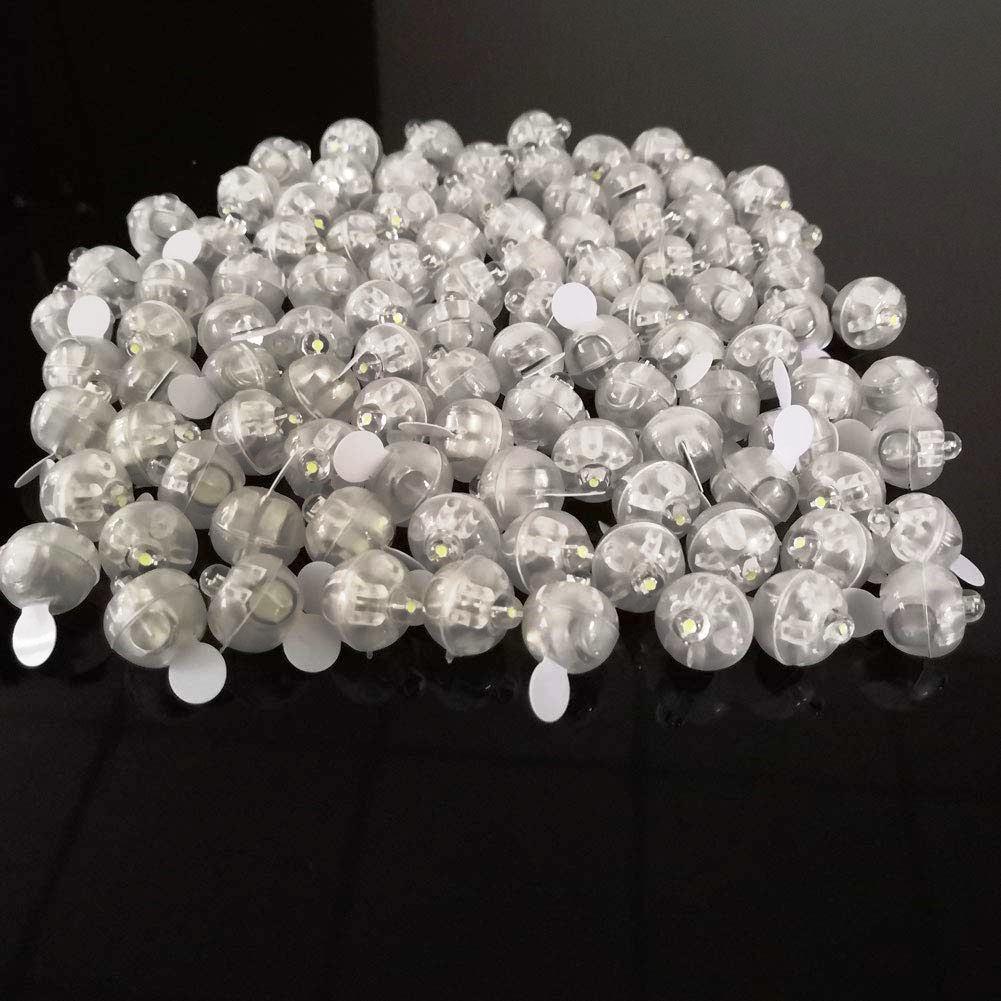Accmorバルーンライト(300個)DIY 手作り 装飾に♪LEDミニラウンドボール インテリア 水の中にも♪風船 ペーパーランタン バルーンパーティー ウェディング デコレーション用の長い待機時間ボールライト(ホワイト)ハロウィン クリスマス