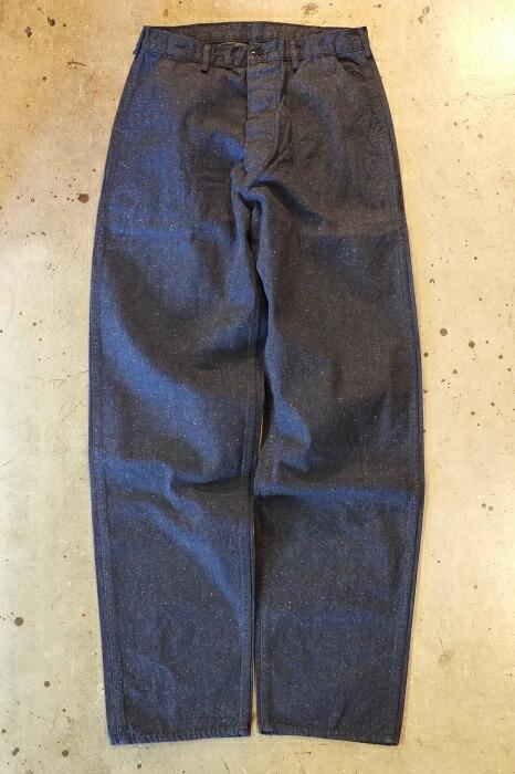 送料無料!TCB jeans(ティーシービージーンズ)SEAMENS TROUSERS USN デッキパンツムラ糸10ozデニム ネップデニムコットン100% ミリタリーデニム