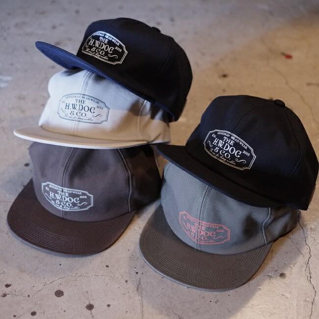 THE H.W.DOG&CO(ザ エイチダブリュードッグアンドコー)【DOG00004】【TRACKER CAP】トラッカーキャップ ユニオンスペシャル縫製チェーンステッチ ロゴプリント入り