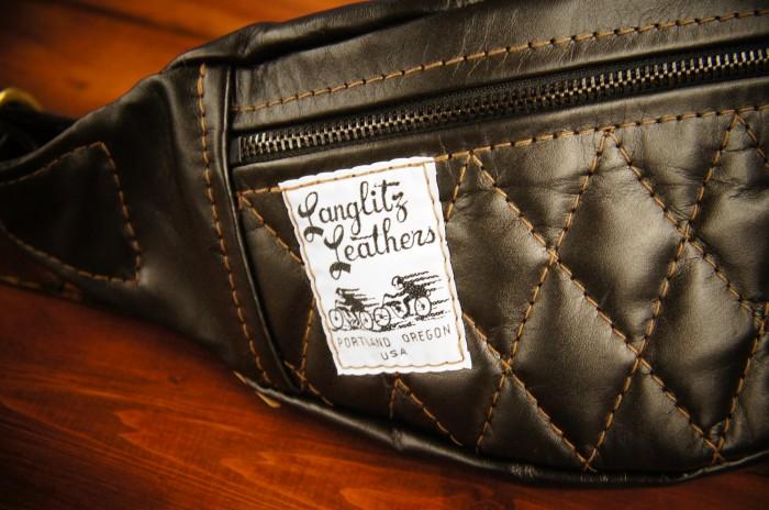 LANGLITZ 皮革 langlitz 皮革皮革) 拉海纳拉海纳另一个注意模型的腰袋 ◆ 髋关节 Hugger 袋腰袋