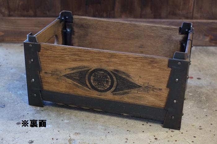 BLACKSMITH Co.(ブラックスミス コー)WOOD BOX【WB-1】ウッドボックスアンティーク木箱風デザイン 重ねての使用可能横幅36.5cm 高さ18cm 奥行25cm