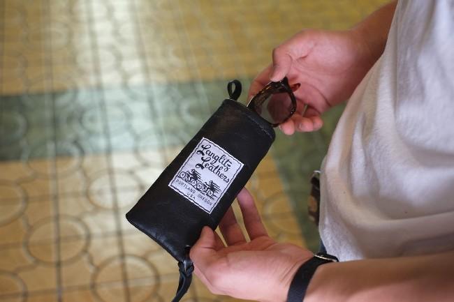 Leathers◆ラングリッツレザーズ グラスケース/ 【Glass Case】 眼鏡ケース ≪ネコポス(300円)可能(ポスト投函・代引・日時指定不可)≫ 16.5L x 7.5W Langlitz (cm)