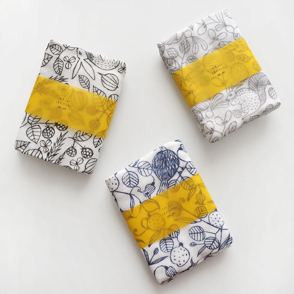 ウサギやリスの装飾が可愛いガーゼふきん 松尾ミユキ 迅速な対応で商品をお届け致します 6重ガーゼふきん 卓出