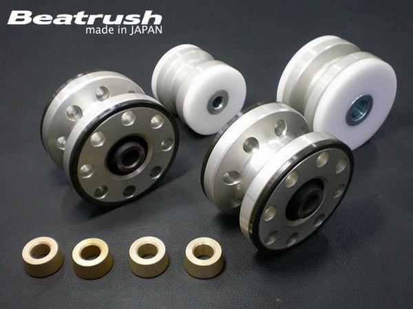 Beatrush エンジンマウントブッシュセット(ハードタイプ) ミツビシ ランサーエボリューション5・6[CP9A/4WDターボ車専用]  * LAILE レイル