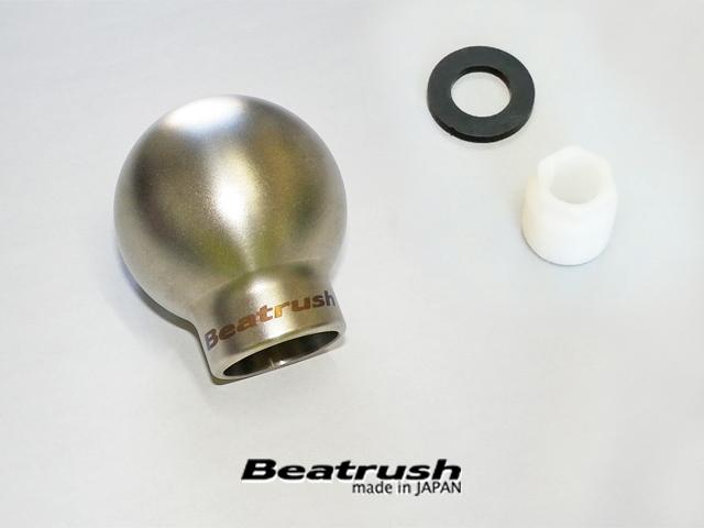 Beatrush チタン製シフトノブ(マニュアル車専用)サンドブラスト仕上げ タイプQBR  * LAILE レイル