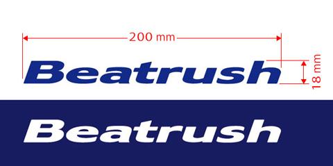 原切割不乾膠標籤 Beatrush / 一個關閉字元類型 200 x 18 毫米 * 1021 _ 快閃記憶體
