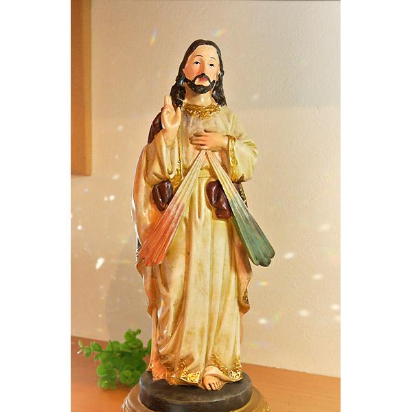 楽天市場 イエス キリスト像 イエス様 キリスト像 置物 jesus christ