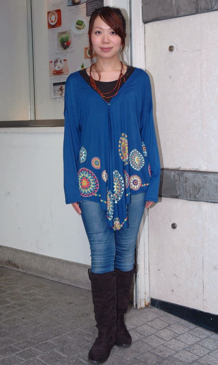 鮮やかなルエダ ブランド激安セール会場 サークル プリントが目を引きます☆ 25%OFF GANESH アジアン 発売モデル ルエダカーディガン ファッション エスニック