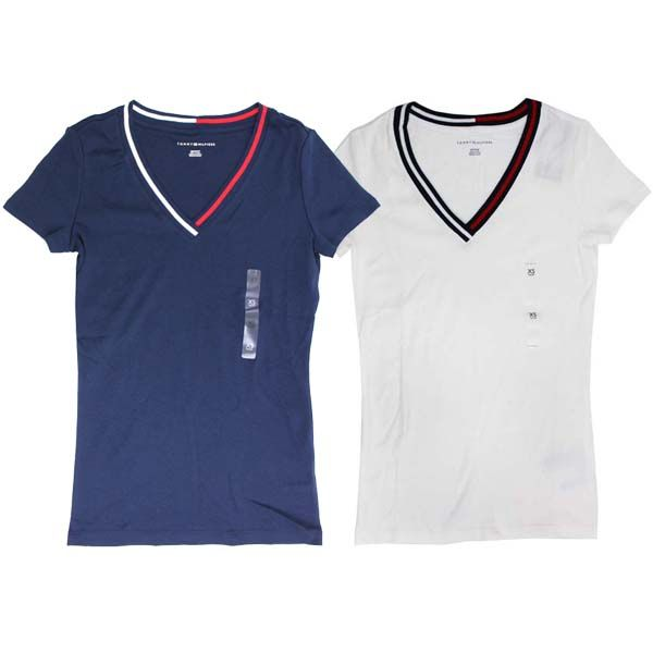 7cd379deaf8aa LA Konect  Tommy Hilfiger Tommy Hilfiger Womens V Neck T shirt tops ...