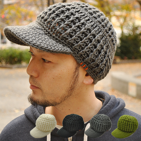 b0070617 The knit cap work cap hat knit hat knit casquette voluminous feel with the  clef ...