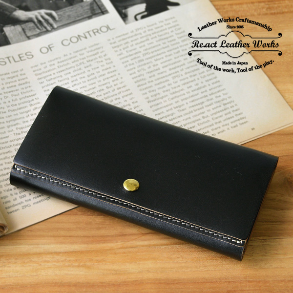 RE.ACT(リアクト)Oil Combi Leather Long Wallet レザーロングウォレット 長財布 日本製 本革 ギフト