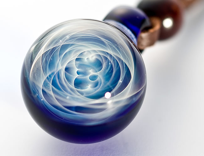 日本制造手工制作的 DragonPipe (龙管) 螺旋管吊坠项链玻璃配件