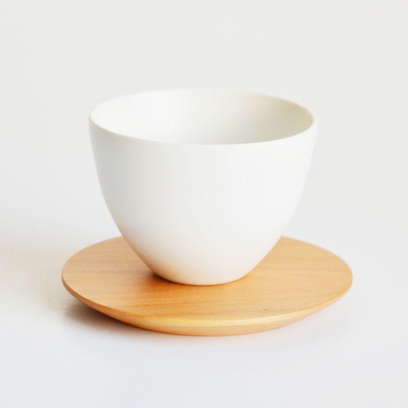【SALIU】TSUKECHI 茶敷 円 山桜 丸 茶托 小皿 木製 天然木 日本製 LOLO ロロ 付知 茶たく 茶敷き