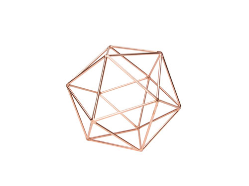 Icosahe Delon Frame 15cm S Icosahedron Copper Interior Art Object