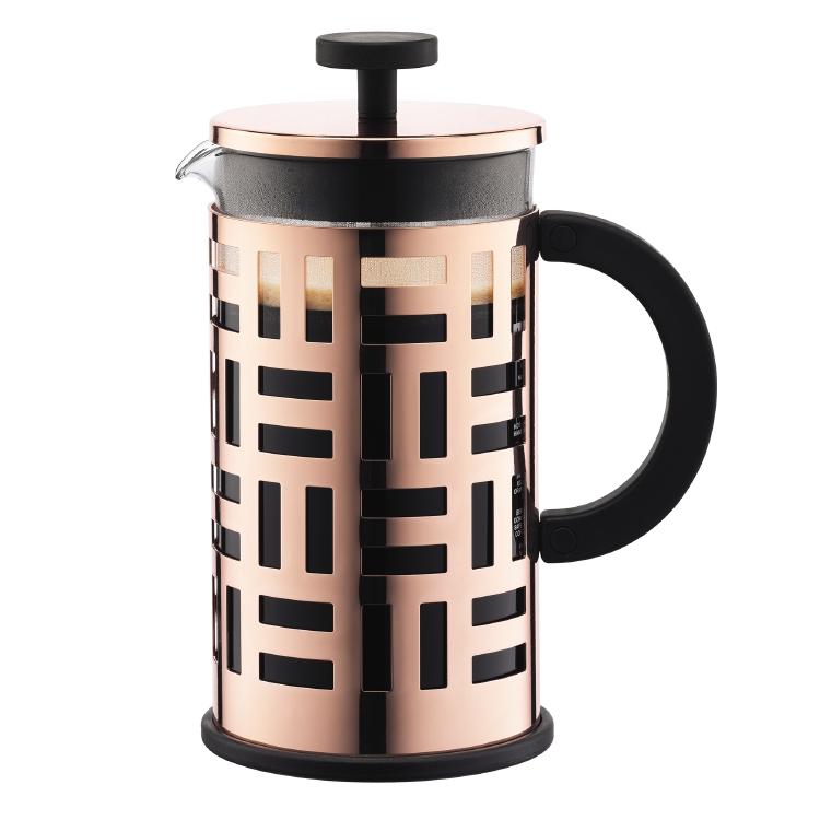 【bodum】フレンチプレスコーヒーメーカー,1.0L 銅 スイスbodum(ボダム)社 耐熱ガラス製