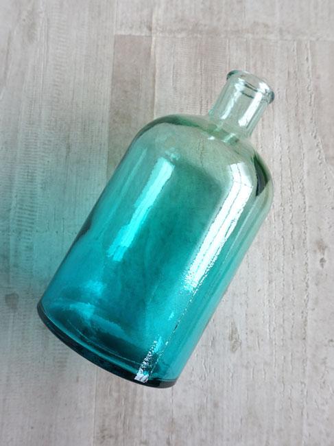 Antique 100 Recycling Gl Made In Doce Sky Interior Bottle S Flower Arrangement Vase Blue Spain