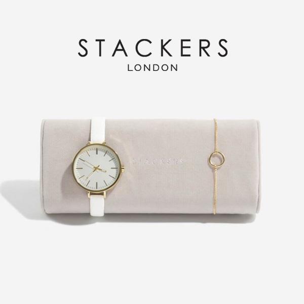 STACKERS 時計 ブレスレット用ミニクッション グレージュ 英国 スタッカーズ グレイ グレイベージュ ジュエリー 国際ブランド ジュエリーケース 3個仕切りに入る時計 イギリス アクセサリーケース 収納 卸直営 ロンドン