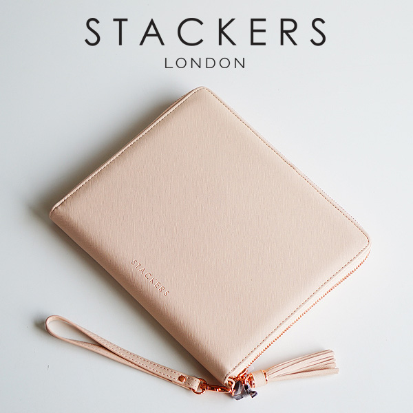 【STACKERS】クラッチバッグ ピンク 英国 スタッカーズ ジュエリーケース ブラッシュピンク Taupe アクセサリーケース イギリス ロンドン ジュエリー アクセサリー ケース 収納