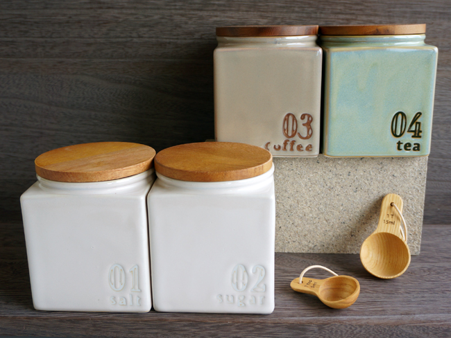 Canister CANISTER Cube LOLO Square Square Porcelain Made In Japan / / Lolo  /LOLO / Storage Containers / Cafe / Antique