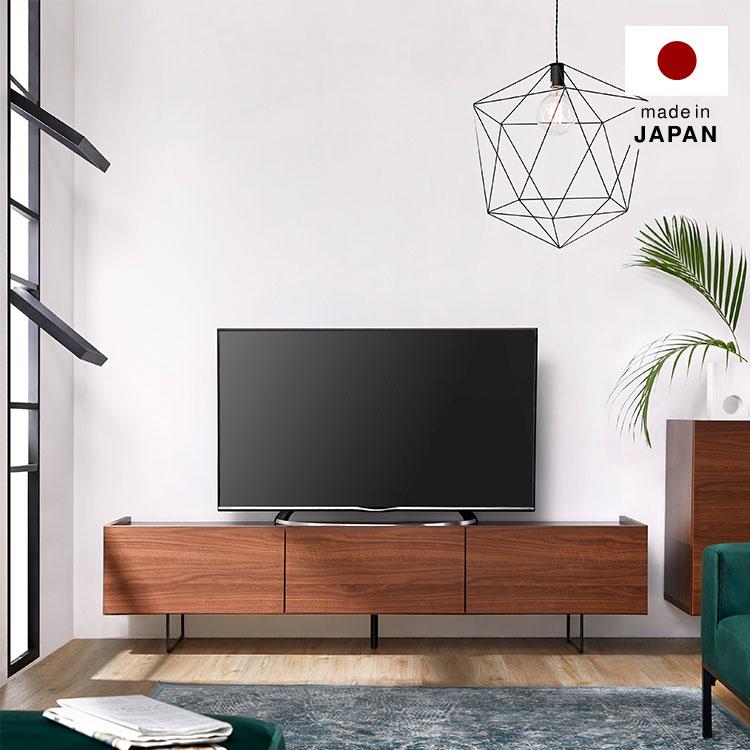 テレビ台 180cm 国産 テレビボード テレビラック 収納 TV台 天然木 TVボード AVボード 日本製 ローボード ロータイプ おしゃれ 収納 脚付き