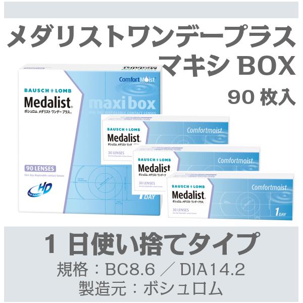 メダリスト ワンデー プラス マキシ ボックス(90枚入)