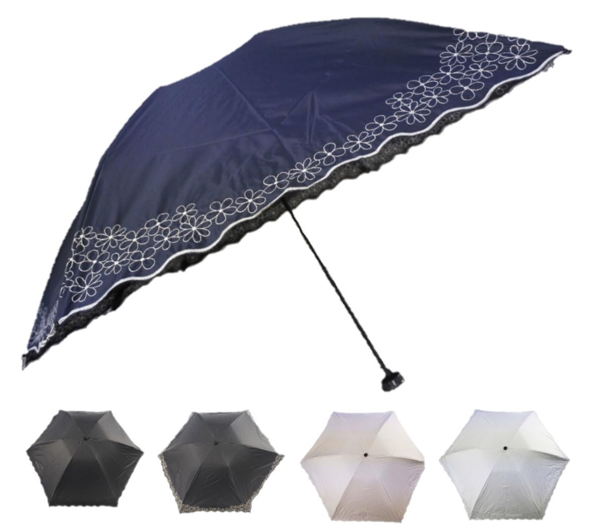 遮光率99.99%以上 一級遮光生地使用 新作からSALEアイテム等お得な商品 満載 カーボン骨使用のため軽量になっており 持ち運びにも便利 デザインは全駒の裾に小花の刺繍がグルっと回っていて豪華な作りになっています アウトレットセール 特集 送料無料 晴雨兼用ミニ傘 軽量 カーボンミニ 一級遮光 遮光率99.99% 紫外線対策 折り畳み傘 全駒裾小花刺繍