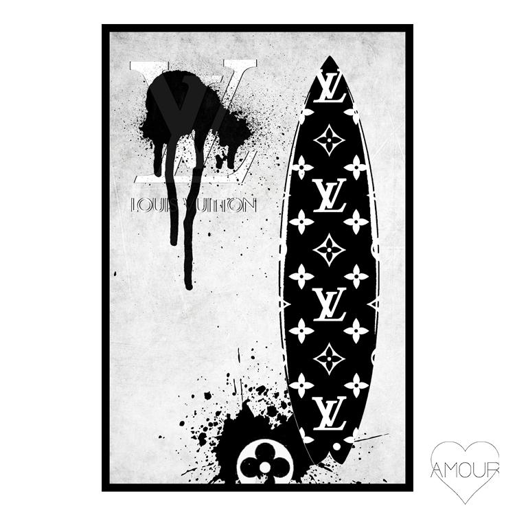 【LA直輸入】【Amour Art】 LV SUN FUN アート オマージュアート ファッションアート アモア アモアアート 海外セレブ 直輸入 キャンバス アクリル メタル ラメ ロサンゼルス