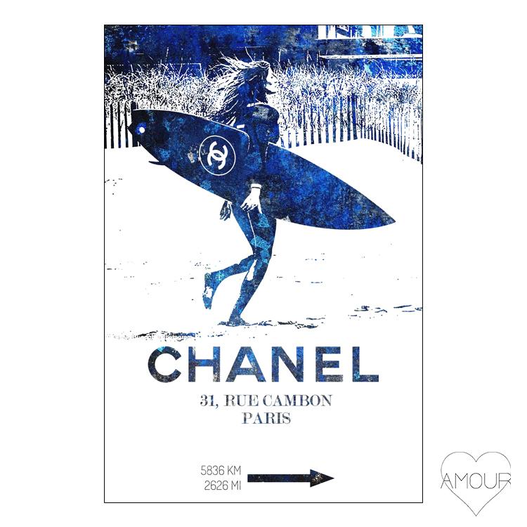 【LA直輸入】【Amour Art】 BLUE CRUSH アート オマージュアート ファッションアート アモア アモアアート 海外セレブ 直輸入 キャンバス アクリル メタル ラメ ロサンゼルス