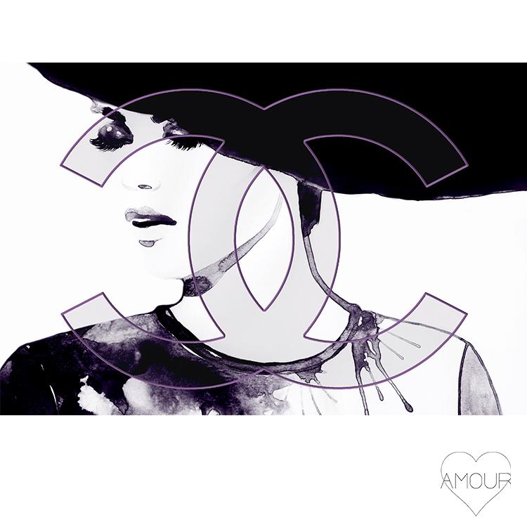 【LA直輸入】【Amour Art】 DON'T BROTHER アート オマージュアート ファッションアート アモア アモアアート 海外セレブ 直輸入 キャンバス アクリル メタル ラメ ロサンゼルス