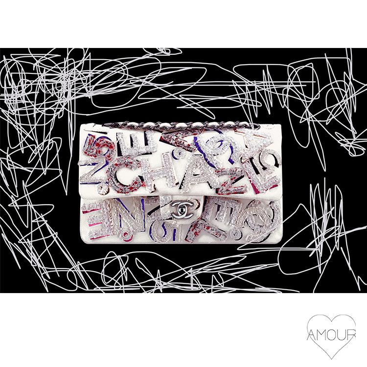 【LA直輸入】【Amour Art】 SALT N'PEPPER アート オマージュアート ファッションアート アモア アモアアート 海外セレブ 直輸入 キャンバス アクリル メタル ラメ ロサンゼルス