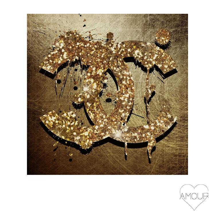 【LA直輸入】【Amour Art】 GOLDEN アート オマージュアート ファッションアート アモア アモアアート 海外セレブ 直輸入 キャンバス アクリル メタル ラメ ロサンゼルス