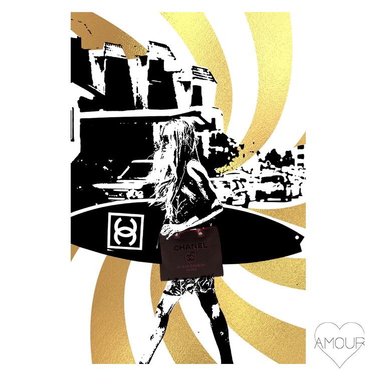 【LA直輸入】【Amour Art】 SEXY COCO BASE アート オマージュアート ファッションアート アモア アモアアート 海外セレブ 直輸入 キャンバス アクリル メタル ラメ ロサンゼルス