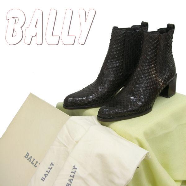 レディース Bally 靴 【インポート】【BALLY】 シューズ 【送料無料】 ヘビ革ANACONDA made in ITALY ブーツ★サイズ/EU:4 US:6 1/2★訳あり★セール  【あす楽対応】 10P05Sep15
