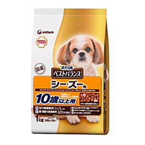 ユニ・チャーム 愛犬元気 ベストバランス シー・ズー用 10歳以上用 1kg×6個[ケース販売]