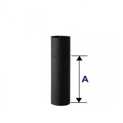 こちらの商品は送料半額対象外です ホンマ製作所 業界No.1 ステンレス煙突 ハゼ折りシングル 高い素材 黒耐熱 半直筒 ステンレス φ106mm 375mm
