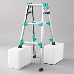 【メーカー直送 代引不可】長谷川工業 はしご兼用脚立 脚部伸縮式 RYZ1.0-09